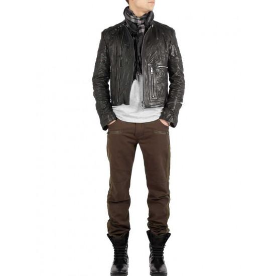 Дизайнерская мужская кожаная куртка - Proton | Протон