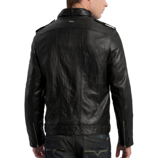 Мужская кожаная куртка - Fusion | Фьюжн