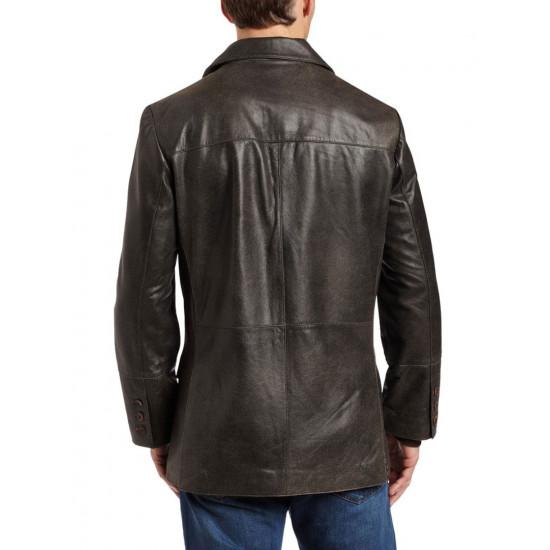Мужской кожаный пиджак - Apollo | Аполо