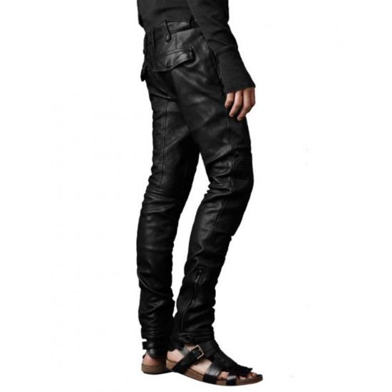 Мужские дизайнерские кожаные брюки Dragster | Драгстер