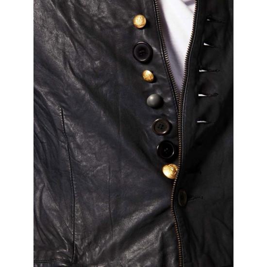 Мужской дизайнерский кожаный пиджак - Da Vinci | Да Винчи