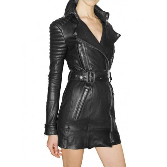 Amazona - Женская дизайнерский кожаный тренч