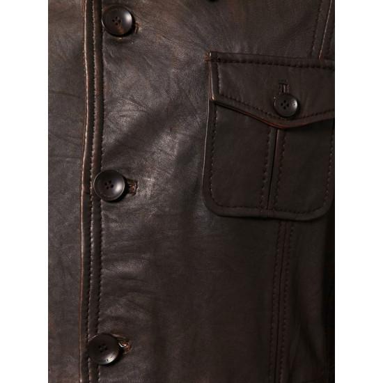 Phantom | Фантом - Мужской дизайнерский кожаный пиджак