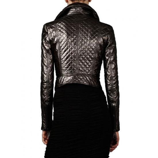 Женская дизайнерская кожаная куртка - Leia   Лея