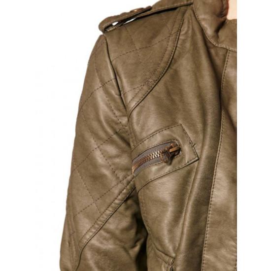 Женская кожаная куртка - Spark | Спарк