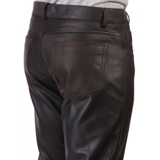Мужские кожаные брюки Rotor | Ротор