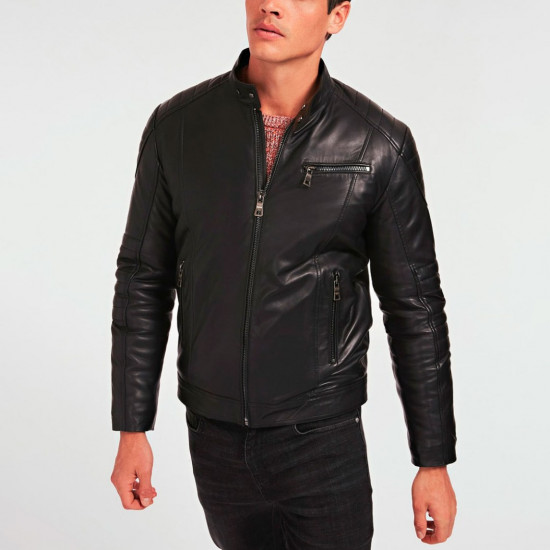 T-ROC | Т-РОК - Мужская кожаная куртка